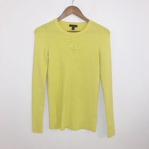 JCrew Lime green sweater small